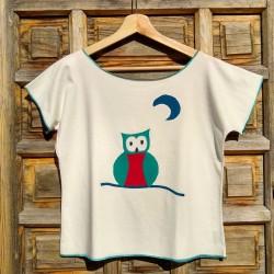 Camiseta ecológica mujer Búho