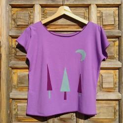 Camiseta ecológica mujer Pinos